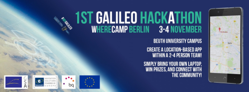 Join the 1st Galielo Hackathon @ Wherecamp Navigation Conference and get something really extraordinary and first worldwide ;-).